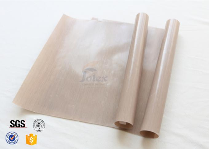 0.12mm Brown Food Grade Non Stick Silicone Baking Mat BBQ Grill Mat Oven Liner