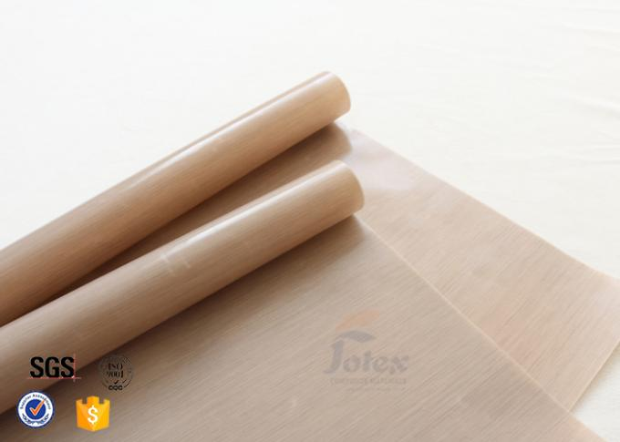 Non Stick Brown Ptfe Coated Fiberglass Fabric Food Grade