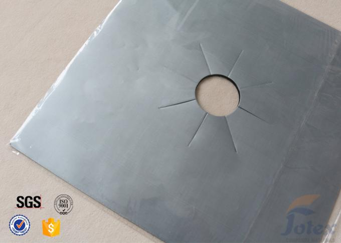 Silver teflon ptfe coated fiberglass fabric food grade for Is fiberglass heat resistant
