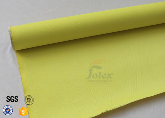 Yellow 0.5mm 530g 100cm  PU Fiberglass Cloth Thermal Insulation Materials