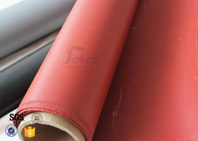 Red Silicone Coated Silica Fabric 800℃ 0.7mm Fiberglass Insulation Materials