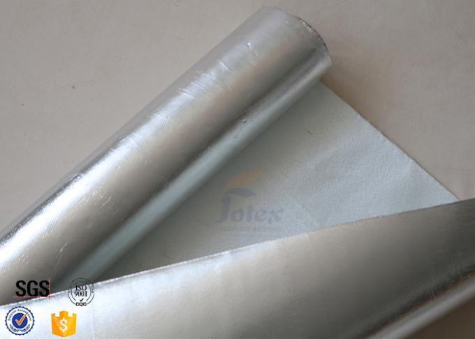 Fire resistant aluminium foil fiberglass fabric silver for Fiberglass insulation fire resistance