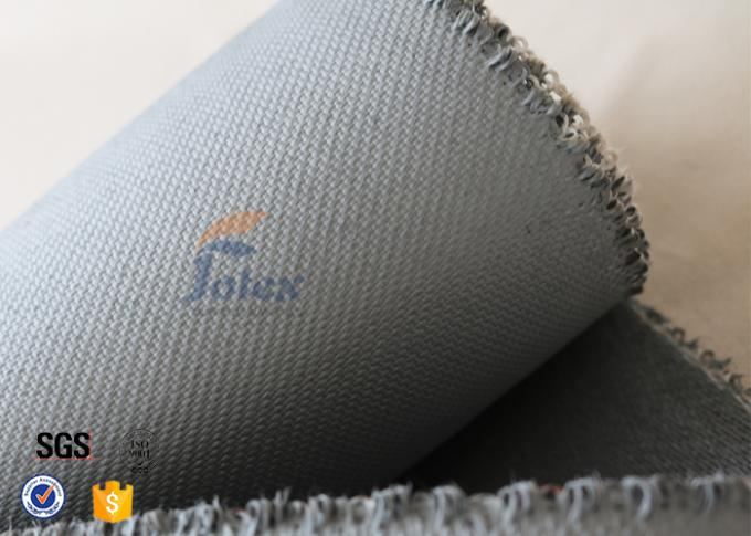 1600gsm Grey Thermal Welding Blanket Materials Silicone Coated Fiberglass Fabric