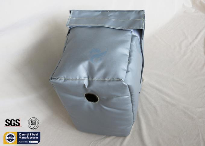 Grey Thermal Insulation Jacket Removable Fiberglass Cover 300℃ 25MM