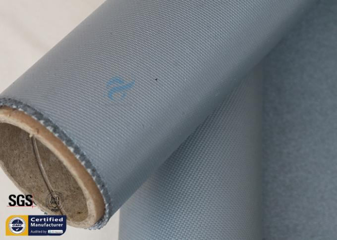 Thermal Insulation Materials 31OZ 0.85MM Grey Silicone Coated Fiberglass Fabric