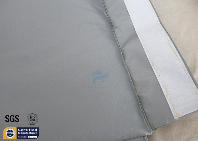 Removable Thermal Insulation Jacket For Actuator Grey Silicone Fiberglass Fabric