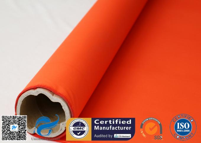 Acrylic Coated Fibreglass Fabric Orange 7628 260℃ 500℉ Chemical Resistant