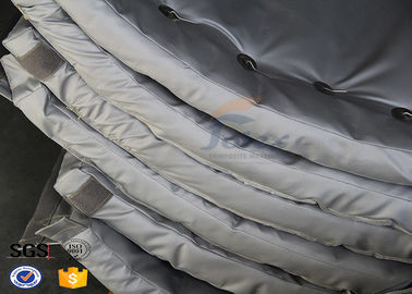 China Lightweight Fiberglass Thermal Insulation Jackets , Removable Insulation Covers Fire Retardant supplier