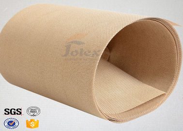 China Plain Width Ptfe Coated Fiberglass Cloth for Food Baking / Heat Sealing Machine supplier