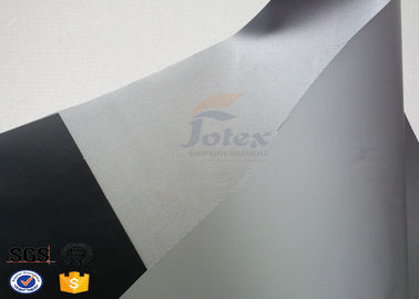 China Grey PVC Coated Fiberglass Fabric , Composite High Temperature Fabric supplier