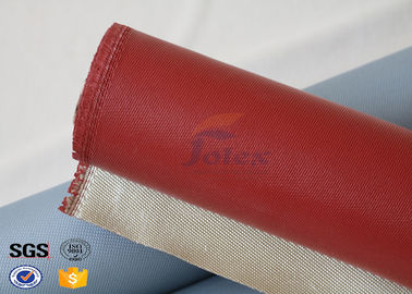 China 1000 Degrees Red Coating High Silica Fabric Thin Fiberglass Cloth 700gsm supplier