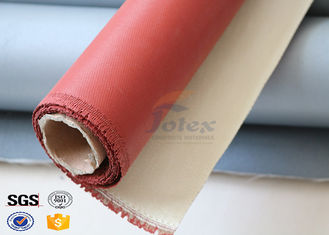 China 0.7mm Thickness Fireproof Silicone Coated Glass Fabric for Welding Protection supplier