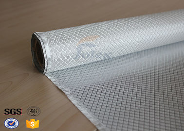 China Flame Retardant Fiberglass Fabric Silver Plated Fabric Double Sides 230g supplier