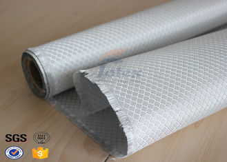 China Texalium Honeycomb Weave Silver Coated Fabric E Glass Weatherproof 1200mm supplier
