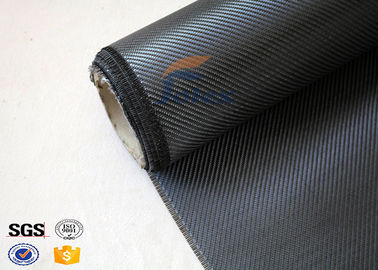 China Light Weight Silver Coated Carbon Fiber Fabric  , Twill Carbon Fiber Cloth supplier