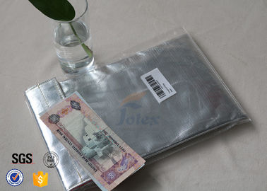 China comfortable Glass Fibre Cloth Fire Resistant Document Bag / Fireproof Cash Pouch supplier