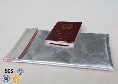 China 6mm Thickness Fireproof Document Bag / Fire Resistant Cash Bag supplier