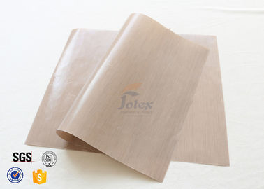 China 0.12mm Brown Food Grade Non Stick Silicone Baking Mat BBQ Grill Mat Oven Liner supplier