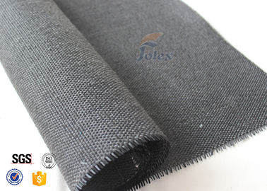 China 600g Thermal Insulation Materials Black Vermiculite Coated Fiberglass Fabric supplier