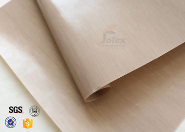China Non Stick Brown PTFE Coated Fiberglass Fabric Food Grade For BBQ Grill Mat supplier
