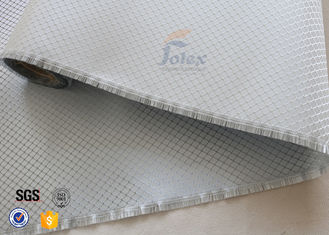 China Aluminized Plated Fiber Glass Cloth Decoration Silver Coated Fiberglass Fabric supplier