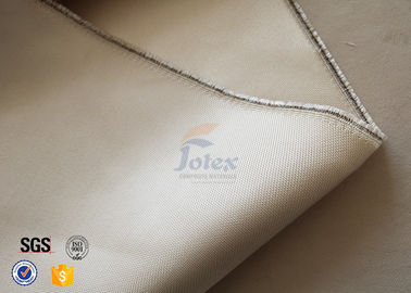 China 800℃ Thermal Insulation Materials / 600g 0.7mm High Silica Cloth Light Brown Color supplier