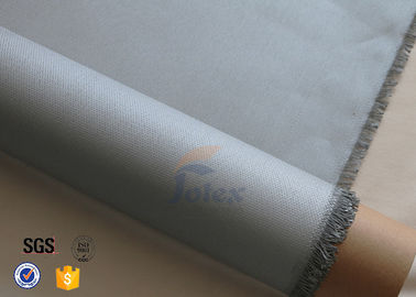 China 0.45mm Grey 3732 PU Coated Fiberglass Fire Blanket , Weight 430g/M2 supplier