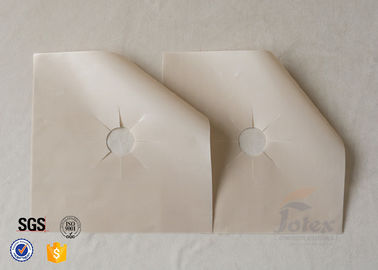 China Beige PTFE Coated Fiberglass Fabric Stovetop Burner Liner 10.6x10.6 Inches supplier