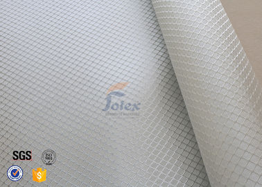 China Satin Weave 220gsm Silver Coated Fabric Fiberglass Cloth Thermal Insulation supplier