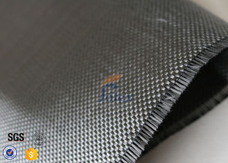 China Plain Weave Silver Plated Fabric 3K 240g Carbon Fiber Fabric For Surface Decoration supplier