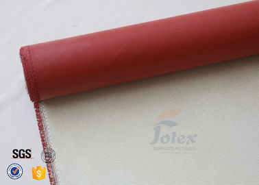 China 0.8mm Red Silicone Coated High Silica Fabric Thermal Insulation Material supplier