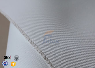 China 800 G/M2 0.8mm White PU Coated Fiberglass Fabric For Fire Resistant Blanket supplier