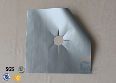 China Silver PTFE Coated Fiberglass Fabric Stovetop Burner Protector Cover supplier