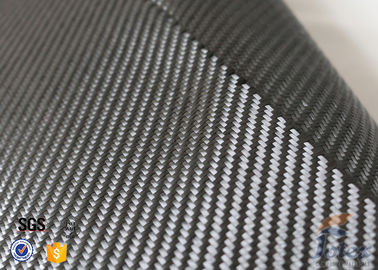 China 3K 240g/m2 Carbon Fiber Cloth Silver Coated Fabric Engineering Decoration supplier