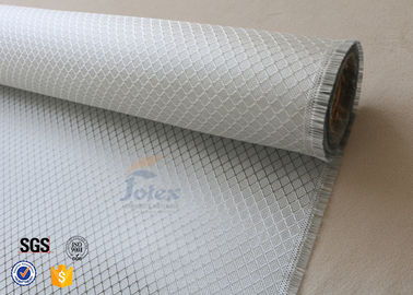 Silver Coated Cloth Surface Decoration 0.2mm Aluminized Fiberglass Fabric