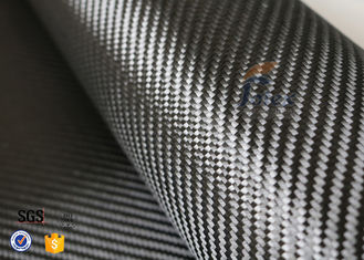 China 3K 240gsm Carbon Fiber Cloth Twill Weave Decoration Silver Coated Cloth supplier