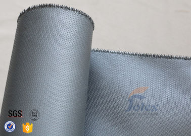 China Silicone Coated Fiberglass Fabric Fire Blanket Cloth 580gsm 0.55mm Grey Color supplier