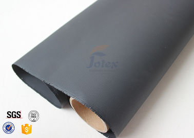 China Black PU Coated Fiberglass Fabric 0.5mm 530gsm Durable Welding Protection supplier