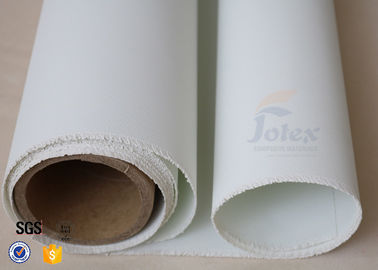 "China Fire Blanket Material White PU Coated Fiberglass Fabric 700gsm 0.7mm 39"" supplier"