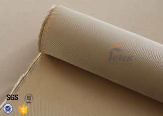 China 1200℃ Fiberglass Cloth roll Fire Blanket 1.3mm 1200g Brown High Silica Fabric supplier