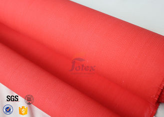 China 0.45Mm 530GSM Fiberglass Cloth Roll Red Acrylic Coated For Welding Blanket supplier