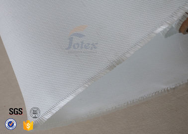 China 260℃ 0.45mm White Silicone Coated Fiberglass Fabric Fire Blanket 480gsm supplier