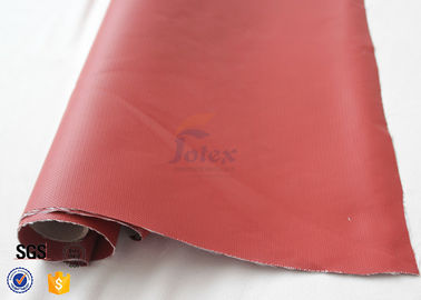 China 580gsm 260℃ Fiberglass Cloth Thermal Insulation Jacket Fabric Silicone Coated supplier