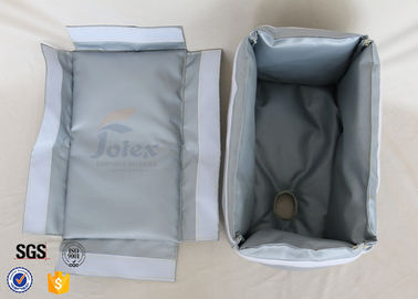 China Removable Fiberglass Insulation Jacket 300℃ 25MM Heat Resistant Actuator Cover supplier