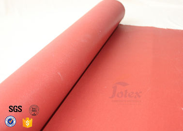 China Red Silicone Coated Silica Fabric 800℃ 0.7mm Fiberglass Insulation Materials supplier