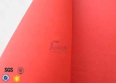 "China 0.45mm Red 39"" Acrylic Coated Fiberglass Fire Blanket Flame Resistant Material supplier"