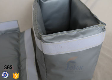 China 300℃ Industrial Fiberglass Jacket Removable Thermal Insulation Cover Grey supplier