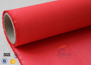 Acrylic Coated Fiberglass Fire Blanket Materials Red 0.45mm Welding Protection