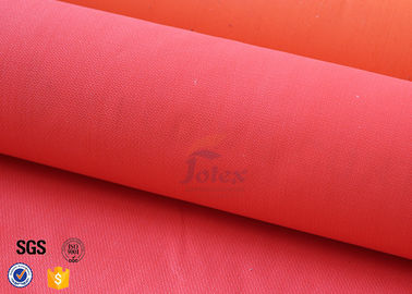 China Fiberglass Fire Blanket Cloth With Acrylic Welding Safety Protection Red 550℃ supplier
