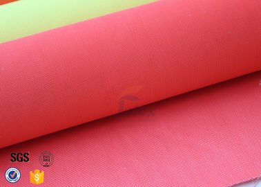 Acrylic Coated Fiberglass Fire Blanket Fabric Red 490GSM Welding Sparks Shield